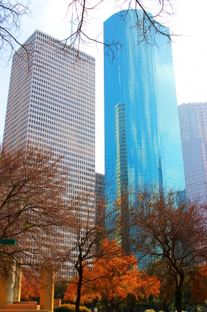 Skyscrapers in downtown of Houston, texas photo