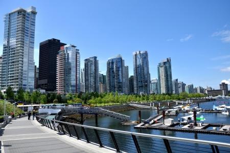 Vancouver seawall and skyline