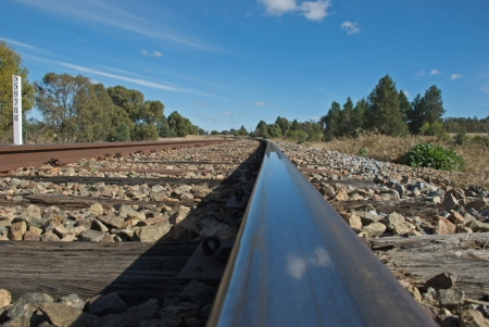 a cloe-up view of a railway line Stock Photo - 13600698