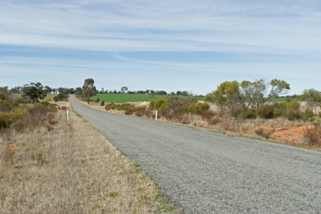 a main road with cloud and paddocks photo