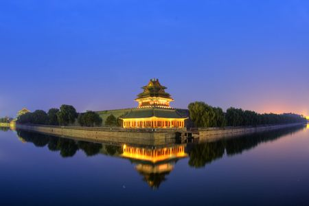 dynasty: Beijing,China.Qing Dynasty palace construction
