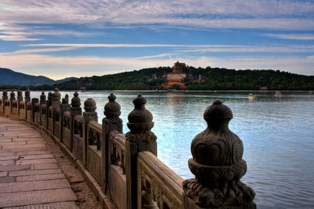Summer Palace in Beijing, China sunset