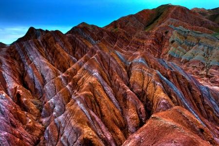 xinjiang: Chine Xinjiang Danxia relief Banque d'images