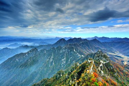 the great wall and the fall: Manshan leaves in the Great Wall of China