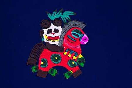 Chinese folk art paper cutting - zodiac horse photo