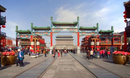 Beijing, Qianmen Avenue, scenery