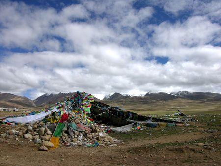 fagot: Tybet czytać Tanggula Zdjęcie Seryjne