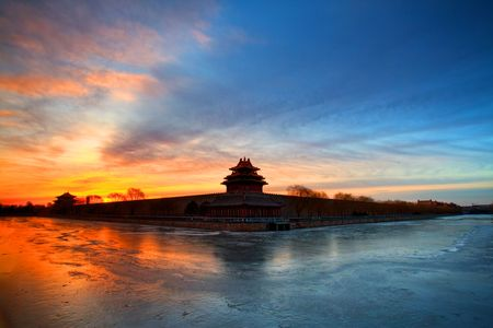 turret: Palace building in Beijing, China: turret