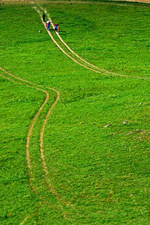 The way in Chinas Inner Mongolia grassland photo