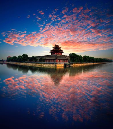 National Palace Museum Beijing Ancient Architecture Stock Photo