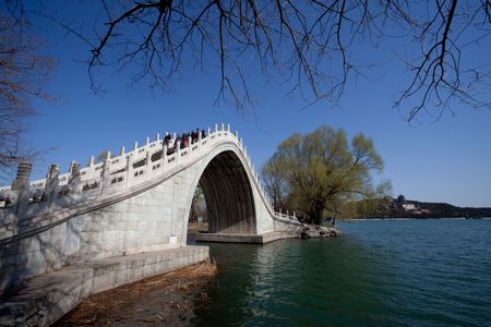 Summer Palace in Beijing Yudai Bridge Park photo