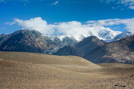xinjiang: Vue du Pamir dans le Xinjiang en Chine