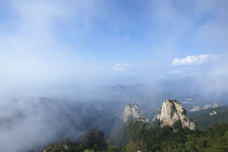 hebei: Chinas Hebei wind around the clouds geoparks Stock Photo