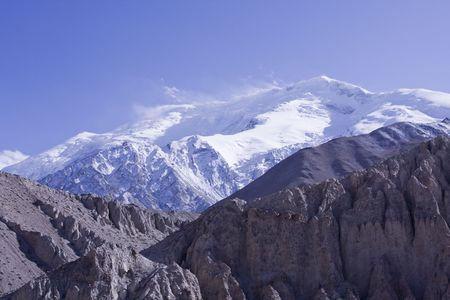 xinjiang: Xinjiang la Chine Broad Peak Banque d'images