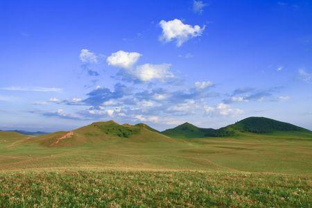 China Inner Mongolia grassland scenery Stock Photo