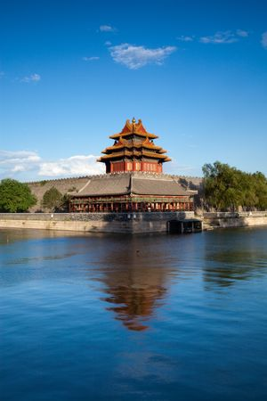 turret: Beijing, China 600-year history of the ancient buildings: turret