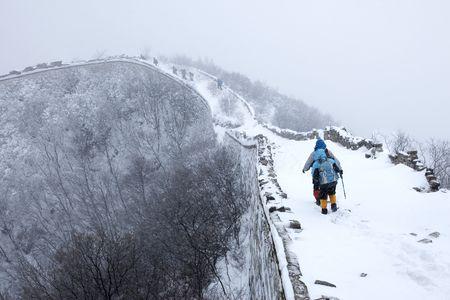 blizzard: Schneesturm in der Great Wall Of China