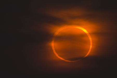 January 15, 2010 in Qingdao, China shot annular eclipse Stock Photo - 6251305