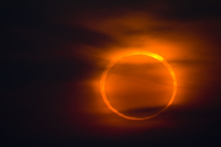 January 15, 2010 in Qingdao, China shot annular eclipse
