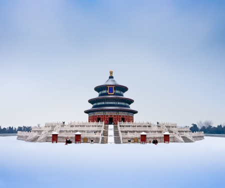 monument historical monument: Ancient Chinese emperors to pray for bumper grain harvest of the place: the Temple of Heaven Qi Niandian Stock Photo