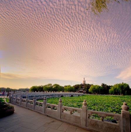 Beihai Park, Beijing, China, the beautiful scenery photo
