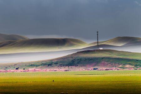 inner mongolia: Beautiful China Inner Mongolia steppe