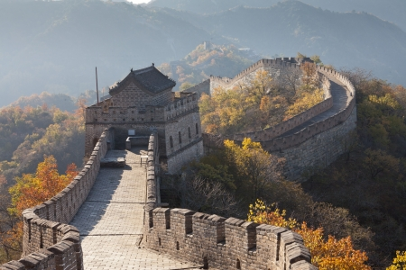 The Great Wall of China of autumn photo