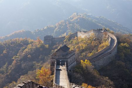 beijing: The Great Wall of China of autumn