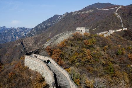 China Beijing mutian valley Great Wall measure Stock Photo - 8173961