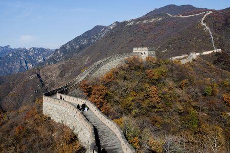 China Beijing mutian valley Great Wall measure Stock Photo - 8173961