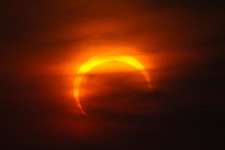 2010 November 15 eclipse of the sun Stock Photo