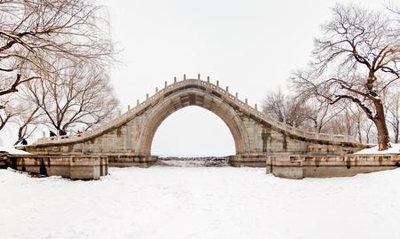 Beijing China 200 years of history ancient snow palace park Stock Photo