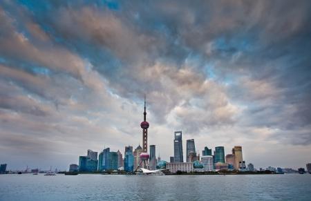Shanghai pudong development zone scenery-China