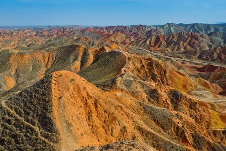 landform: Danxia landform Stock Photo