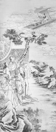 tree works: Beijing Summer Palace long corridor painting Editorial
