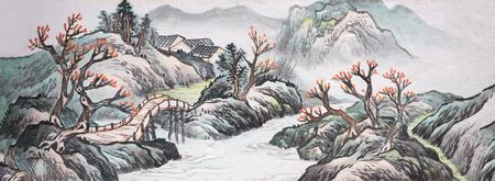 北京頤和園の長い廊下の絵画 報道画像