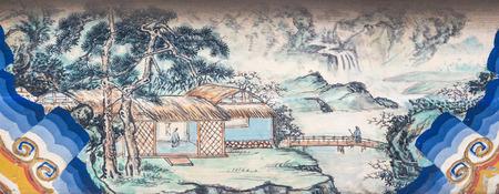 tree works: Beijing Summer Palace long corridor painted Editorial