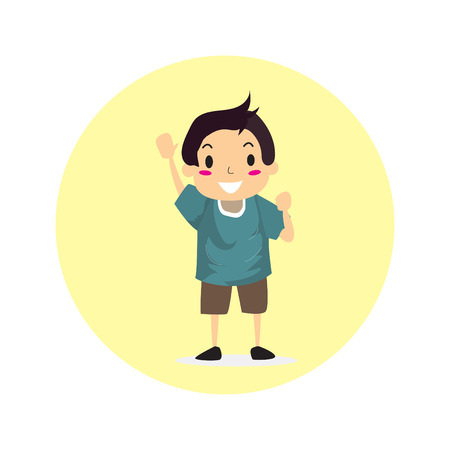The Boy character design illustration vector