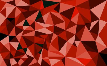 Fondo de polígono geométrico Fondo retro triángulo Patrón de mosaico colorido Ilustración vectorial