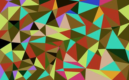 Geometric polygon background. Retro triangle background. Colorful mosaic pattern. Vector illustration. Illustration
