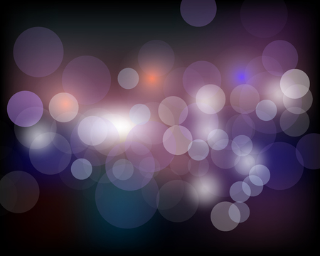 abstract bokeh background. Festive defocused lights Vector illustration.