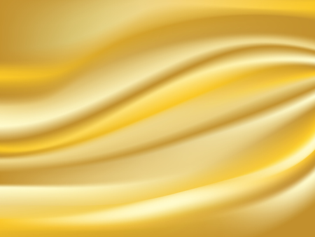 Abstract gold. background Vector gold cloth Fabric Textile Drape with Crease Wavy Folds.with soft waves and Gold fabric, waving in the wind