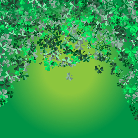 Saint Patricks day Festival. Irish celebration .Green clover shamrock leaves on green background for poster, greeting card, party invitation, banner other users Vector illustration Illustration