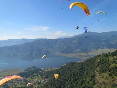 pokhara: paragliding in pokhara