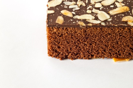 Eatable chocolate brownie cake photo