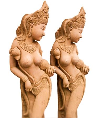 Goddess in wai at Chiang mai Thsiland photo