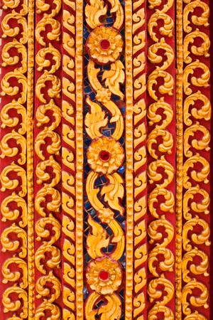Thai style painting in monastery photo