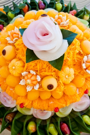 Thai desserts with beautiful colors photo