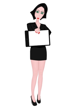 business girl presenting concept of work Stock Vector - 20581998