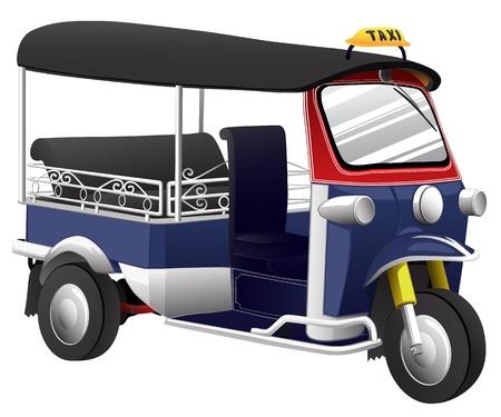 tuktuk: TUKTUK is vehicle of thailand Illustration